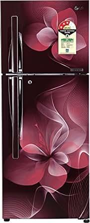 LG 260 L 3 Star Frost Free Double Door Refrigerator(GL-T292RSDU.ASDZEBN, Scarlet Dazzle, Inverter Compressor)