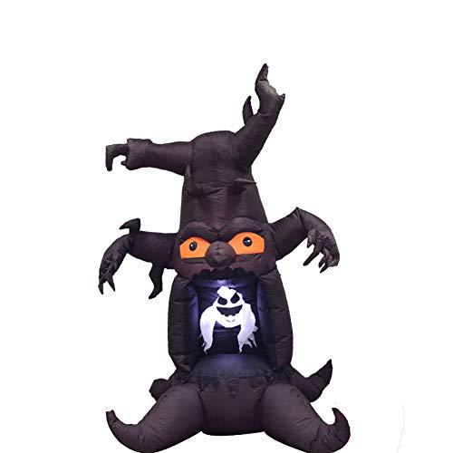 8 Piedi Fantasma Albero Gonfiabile Halloween LED Luci Terrore Spettro Tema Saltare Airblown Yard Lawn Decorazione