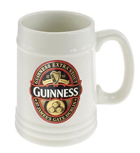 Tazza guinness beer boccale ceramica bianca *03428 gadget idea regalo birra