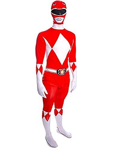 Rubie's Faschingskostüm für Erwachsene Herren, roter Power Ranger Mighty, hauteng - Größe L, Höhe zwischen 162,5 - 177,5 cm