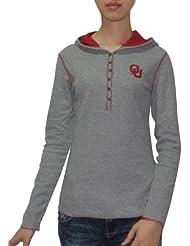 NCAA Oklahoma Sooners Femme Slim Fit Pullover Hooded T Shirt