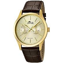 Lotus  15957/2 - Reloj de cuarzo para hombre, con correa de cuero, color marrón