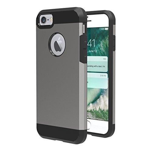 Easy Go Shopping Für iPhone 7 Trennbare Mieder-TPU + PC Kombinations-Kasten, Kleine Quantität Empfohlen vor iPhone 7 Start (Color : Grey) (Taste Mieder)