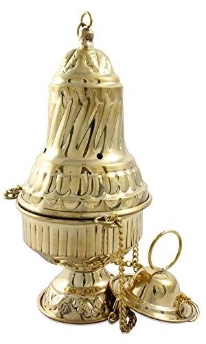 Incensario, incensario, Santiago bronce pie cadenas