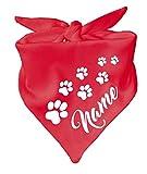KLEINER FRATZ Hunde Dreiecks Halstuch (Fb: rot) Name des Hundes