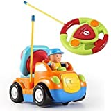 Joyjazz RC Cartoon Construction Car With Music And Light Electric Remote Control Truck Toy For Baby Toddlers Kids And Children