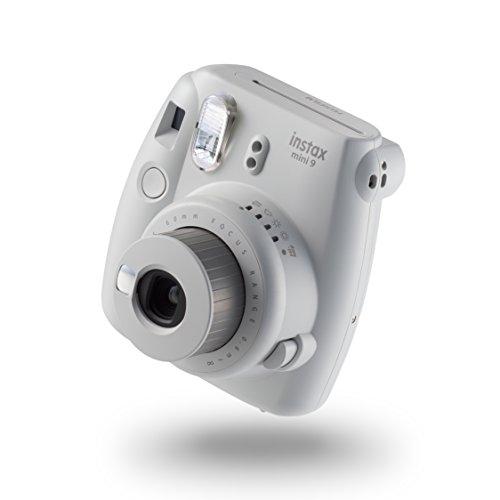 Fujifilm Instax Mini 9 Kamera, smoky weiß mit mit 10 Aufnahmen Fuji Digital-kamera-bundle