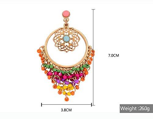 Crunchy Fashion Multicolor Metal Dangle & Drop Earrings For Women