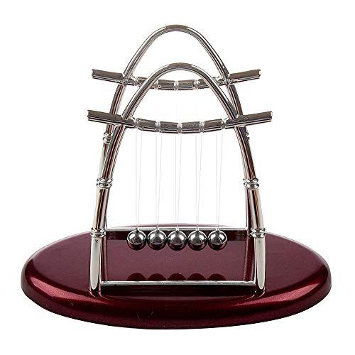 LONG-J Balance Pendel Bälle Physikalische Energie Conservation Modell Metall Handwerk Geschenk Schaukel Schreibtisch Ornamente Spielzeug Mehrere,S