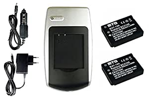 Chargeur + 2x Batteries DMW-BCG10E pour Panasonic Lumix DMC-ZS8, ZS9, ZS10, ZS15, ZS20, ZX1