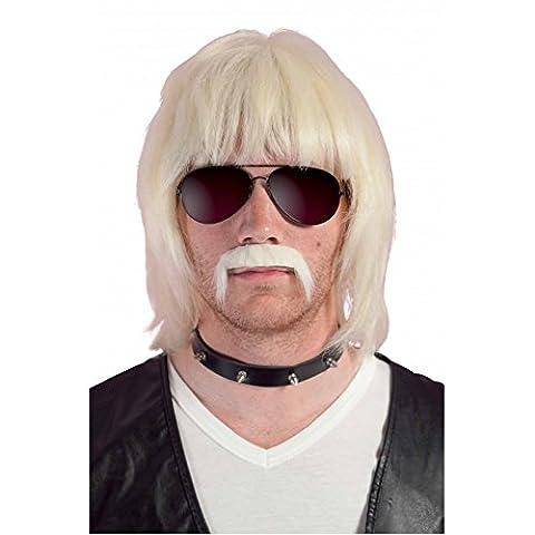 P 'tit Clown 51920Perücke und Schnurrbart Bobby–Blond (Berühmte Schnurrbärte Kostüme)