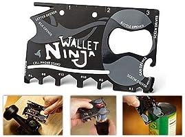 Acil Durum Kiti Ninja Wallet Multi Tool Kit Çok Fonksiyonlu Açacak Çakı Kart Bıçak 18 İn 1