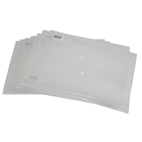 Zoohot Ordner mit Taschen, DELI hochwertige Polyklare Dokumentenumschläge mit Druckknopf, US-Buchstabe oder A4 Größe, Wasser / reißfest, Packung mit 10 Stück (Weiße)