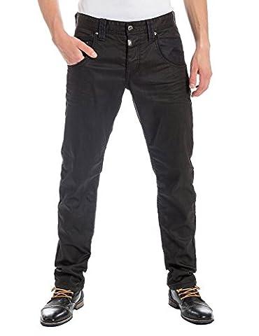 Timezone Herren Slim Jeans HaroldTZ, Gr. W31/L32, Schwarz (dull wash 3119)