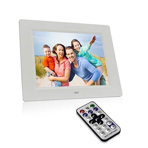 XWEM Digital Photo Frame 8 Zoll 1080P HD IPS LCD Display Elektronische Bildrahmen mit Motion Sensor, HD Video/MP3/Electronic Photo/Advertising Display/Digital Clock/Kalender