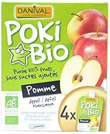 Danival - Poki Bio Pomme sans sucres ajoutés 4X90G