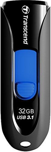 Transcend JetFlash 790 - Memoria USB 3.0 de 32 GB, color negro