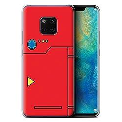 Stuff4 Gel TPU Hülle/Case für Huawei Mate 20 Pro/Rot Muster/Anime Cartoon Kodex Kollektion