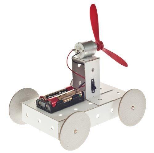 Propeller Fahrzeug Karton Funktionsmodell Bausatz f. Kinder Werkset Bastelset ab 10 Jahren