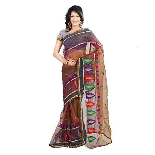 Florence Multi color Tissue Embroidered Saree