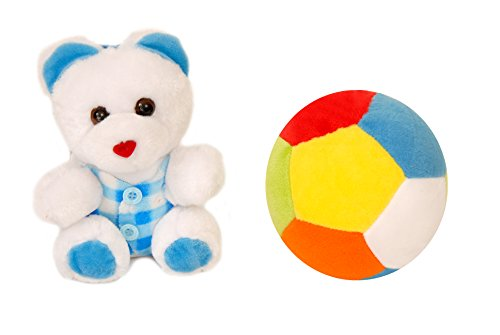 Lehar Toys Combo of Mini Ball and Mini Teddy