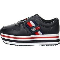 Tommy Hilfiger CUSTOMIZE FLATFORM, Women's Sneakers, Blue, 40 EU