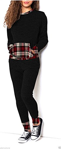 Generic - Robe - Manches Longues - Femme Red Tartan Camouflage
