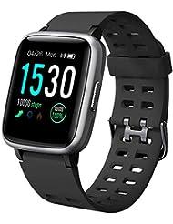 YAMAY Smartwatch Orologio Fitness Uomo Donna Impermeabile IP68 Smart Watch Cardiofrequenzimetro da Polso Contapassi Smartband Activity Tracker Bambini Cronometro per Android iOS Huawei Samsung iPhone