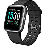 YAMAY Smartwatch Orologio Fitness Uomo Donna Impermeabile IP68 Smart Watch Cardiofrequenzimetro da Polso Contapassi Smartband Activity Tracker Bambini Cronometro per Android iOS Huawei Samsung iPhone