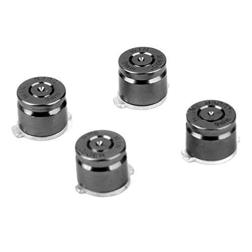 Toogoo (R) Ein Set von 4 silberfarbenen Metall-Tasten für PS3 / PS4 Ersatz Kugeltasten Aluminium für PS3 / PS4 Controller - Silber (Ps3 Silber Controller)