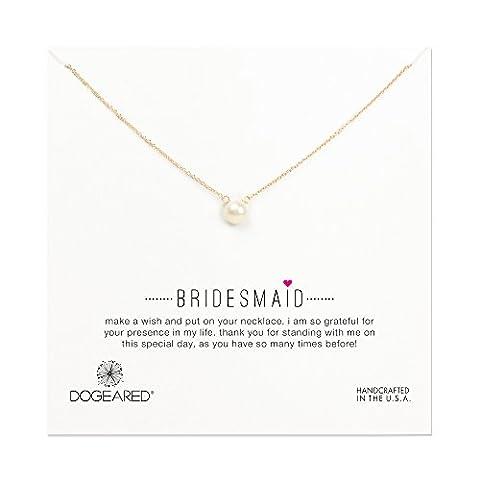 Dogeared - Collier de mariage - Plaqué or - Rond