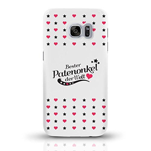 """JUNIWORDS Handyhüllen Slim Case für Samsung Galaxy S7 mit Schriftzug """"Bester Patenonkel der Welt"""" - ideales Weihnachtsgeschenk für den Patenonkel - Motiv 4 - Handyhülle, Handycase, Handyschale, Schutz motiv 4"""