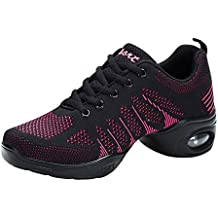 Huatime Scarpe da Ballo Donna - Split Sole Sneaker Jazz Modern Hip Hop  Fitness Moda Maglia debff6398847