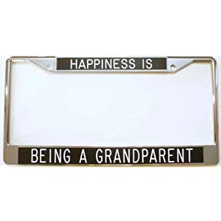 Happiness is...Being a Grandparent-License Plate Frame-black by All About Signs 2