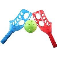 LIOOBO Fun-Air Scoop Ball Scoop Trackball Deporte Trac Ball Lacrosse Racket Actividades de Lacrosse, Mejorar la coordinación de los Ojos con Las Manos para la Playa de Acampar en el césped