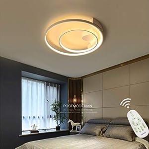 Modern Deckenleuchte Schlafzimmer-Lampe Dimmbar Deckenlampe Aluminium Acryl-Lampeschirm Rund Leuchte Wohn Esszimmerleuchte Mit Fernbedienung Deckenleuchte-Panel Jugendzimmer Bestseller Dekolampe Ø50cm