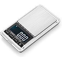 Zhrui Balanza electrónica de Bolsillo de precisión Precision Balance 0.01g Balanza de precisión Digital Pocket