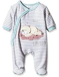 """Twins Unisex Baby Schlafstrampler """"Bärchen"""", geringelt"""
