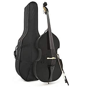 3/4 (Jazz) Size Double Bass in BLACK