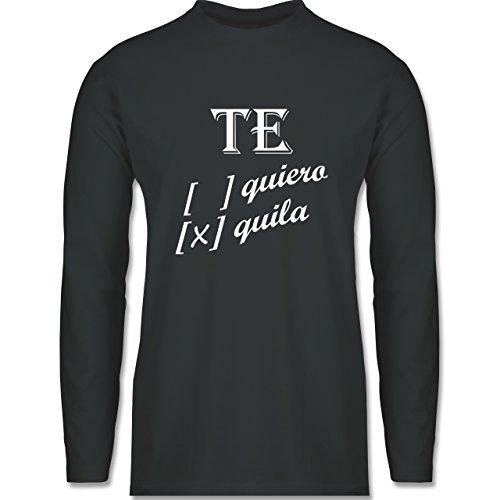 Statement Shirts - Te quiero, Tequila - Longsleeve / langärmeliges T-Shirt für Herren Anthrazit