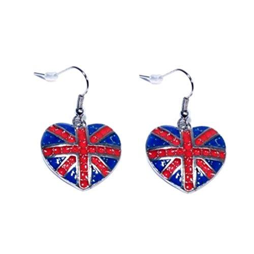 boucles-doreilles-femme-crochets-metal-argente-coeur-drapeau-angleterre-bijou-fantaisie-neuf