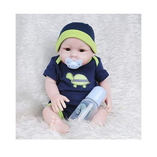 ADATEN Lebensechte Puppe Reborn Baby Silikon Puppe Nurturing Handmade 52 cm Höhe Simulation Lovely Growing Up Partner mit schönen Kostüm Geeignet für 0-3Age