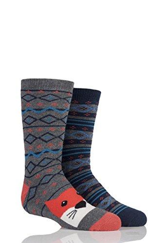 totes-boys-slipper-socks-twin-pack-fox-fair-isle-7-10-years
