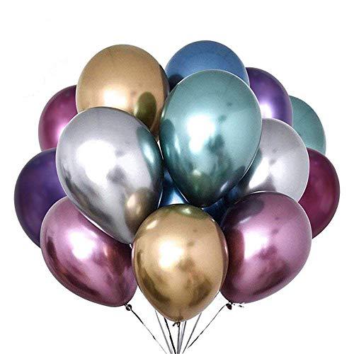 Los globos multicolor/globos metálicos son una buena opción para iluminar su ambiente de fiesta, añadiendo un ambiente feliz y divertido en la fiesta, varios colores metálicos brillantes, ¡ a todos les gustará! ¿Dónde usar Globos metálicos? ⭐Decora...