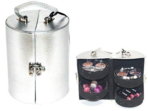 Paris Memories Make Up Vanity silber Drum Case Konturierung Beauty Kosmetik Kit Travel Geschenk-Set