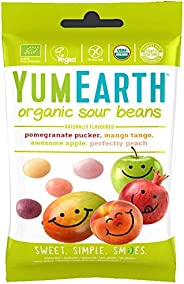 YumEarth Organic Sour Beans, 50g - Pack of 1