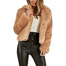 21b18d9e2505e Elegante Cappotto Corto Donna Pelliccia Sintetica Faux Fur Parka Invernale  Cappotto Giacchetto Giubbotto