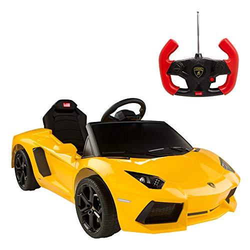 rastar- Coche de batería Lamborghini Aventador de 6V-2.4GH, Color Amarillo (ColorBaby 85246)