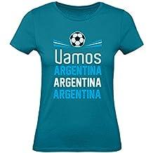 Green Turtle T-Shirts Camiseta para Mujer - Apoya a la Selección Argentina en el