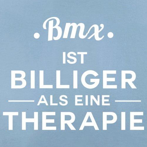 Bmx ist billiger als eine Therapie - Herren T-Shirt - 13 Farben Himmelblau